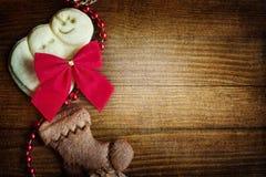 Bordi dei biscotti di Natale Immagini Stock Libere da Diritti