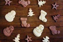 Bordi dei biscotti di Natale Fotografia Stock