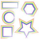 Bordi del Rainbow Fotografia Stock Libera da Diritti
