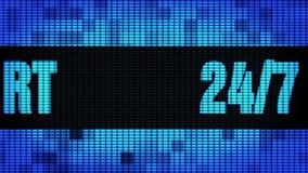 24 bordi del segno dell'esposizione di pannello della parete di Front Text Scrolling LED di 7 sostegni illustrazione di stock