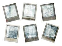 Bordi della foto di Grunge con i disegni Fotografia Stock