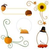Bordi di autunno o di ringraziamento Immagine Stock Libera da Diritti