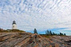 Bordi di cui sopra della roccia del faro di Maine del punto di Pemaquid Immagine Stock Libera da Diritti