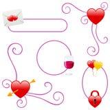 Bordi di giorno o di amore dei biglietti di S. Valentino Immagini Stock Libere da Diritti