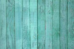 Bordi di legno afflitti annata verde fotografie stock libere da diritti