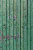 Bordi di legno anziani dipinti nel fondo verde Immagini Stock Libere da Diritti
