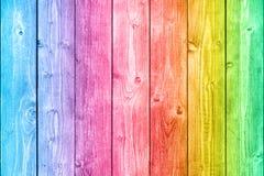 Bordi di legno Colourful Immagini Stock Libere da Diritti
