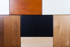 Bordi di legno dei colori differenti Immagine Stock