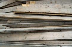 Bordi di legno del mucchio Fotografia Stock Libera da Diritti