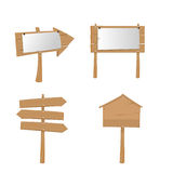 Bordi di legno del segno della plancia del cartello Immagine Stock Libera da Diritti