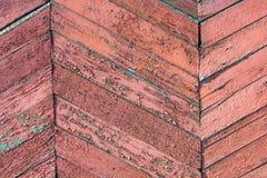 Bordi di legno diagonali del fondo vecchi Retro struttura per progettazione Fotografia Stock Libera da Diritti