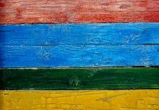 Bordi di legno dipinti Fotografia Stock