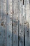 Bordi di legno grigi lunghi d'annata Fotografie Stock