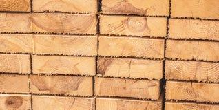 Bordi di legno impilati Immagini Stock