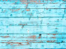 Bordi dipinti con il blu Fotografia Stock Libera da Diritti
