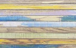 Bordi dipinti con le pitture dei colori differenti Bordi colorati immagini stock
