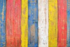 Bordi dipinti di legni Immagine Stock