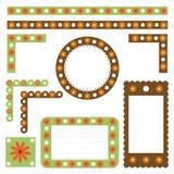 Bordi e blocchi per grafici floreali Fotografie Stock Libere da Diritti