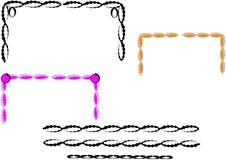 Bordi e blocchi per grafici Frilly Fotografia Stock Libera da Diritti