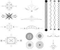 Bordi, elementi di disegno Immagini Stock