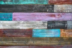 Bordi incrinati anziani con la pittura della sbucciatura fotografie stock libere da diritti
