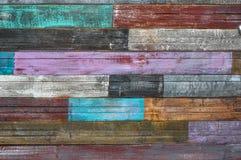 Bordi incrinati anziani con la pittura della sbucciatura immagini stock libere da diritti