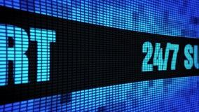24 bordi laterali del segno dell'esposizione di pannello della parete di scorrimento LED del testo di 7 sostegni illustrazione di stock