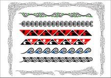 Bordi maori di Koru Fotografie Stock