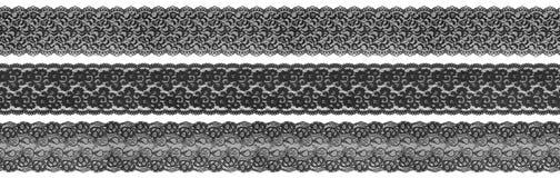 Bordi neri della tessile Immagini Stock