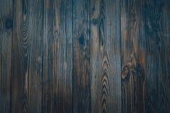 Bordi orizzontali blu scuro di legno d'annata Front View Fondo per progettazione immagini stock libere da diritti