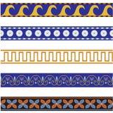 Bordi ornamentali senza giunte Immagine Stock
