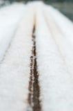Bordi sotto la neve Fotografia Stock Libera da Diritti