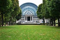 Bordiau Hall i Jubelpark i Bryssel _ arkivbilder