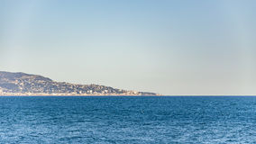 Bordighera from Cap Martin Stock Photography