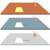 Bordlägga för handstil Fotografering för Bildbyråer