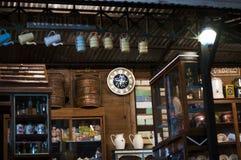 Bordlägger den wood teakträt för tappning bakgrund Royaltyfri Bild