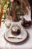 Bordlägga inställningen för ett bröllop med tappningredskap Royaltyfri Foto