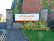 Bordna Mona Signage Royalty-vrije Stock Foto's