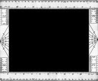 Bordo 4 del righello dell'annata fotografia stock libera da diritti