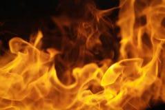 Bordo ardente del fuoco Immagine Stock