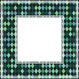 Bordo astratto verde illustrazione di stock