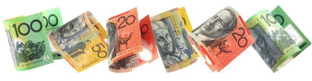 Bordo australiano dei soldi Fotografia Stock