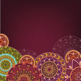 Bordo background with mandalas Stock Photography
