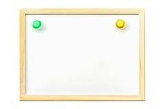 Bordo bianco con magnetico Fotografia Stock