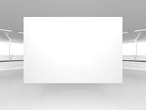 Bordo in bianco dell'insegna sul fondo di architettura Fotografia Stock Libera da Diritti