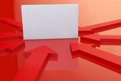 Bordo bianco di pubblicità Fotografie Stock Libere da Diritti