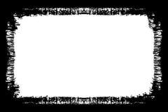 Bordo bianco e nero decorativo della foto dell'estratto Il tipo testo dentro, usa come sovrapposizione o per la maschera di strat illustrazione di stock