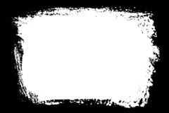 Bordo bianco e nero decorativo della foto dell'estratto Il tipo testo dentro, usa come sovrapposizione o per la maschera di strat royalty illustrazione gratis