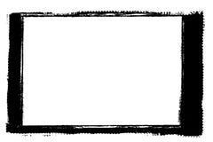 Bordo bianco e nero decorativo della foto dell'estratto Il tipo testo dentro, usa come sovrapposizione o per la maschera di strat illustrazione vettoriale