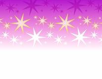 Bordo bianco viola delle stelle Fotografie Stock Libere da Diritti